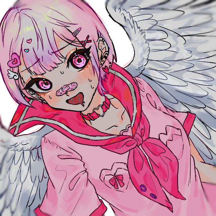 全部 Illust of OHTEAOH 小5 medibangpaint girl angel sailor_uniform pink 羽 久しぶりにメディバンで描いた