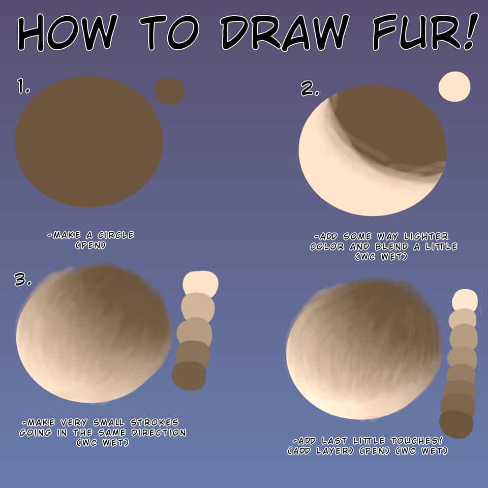 How to draw fur!!