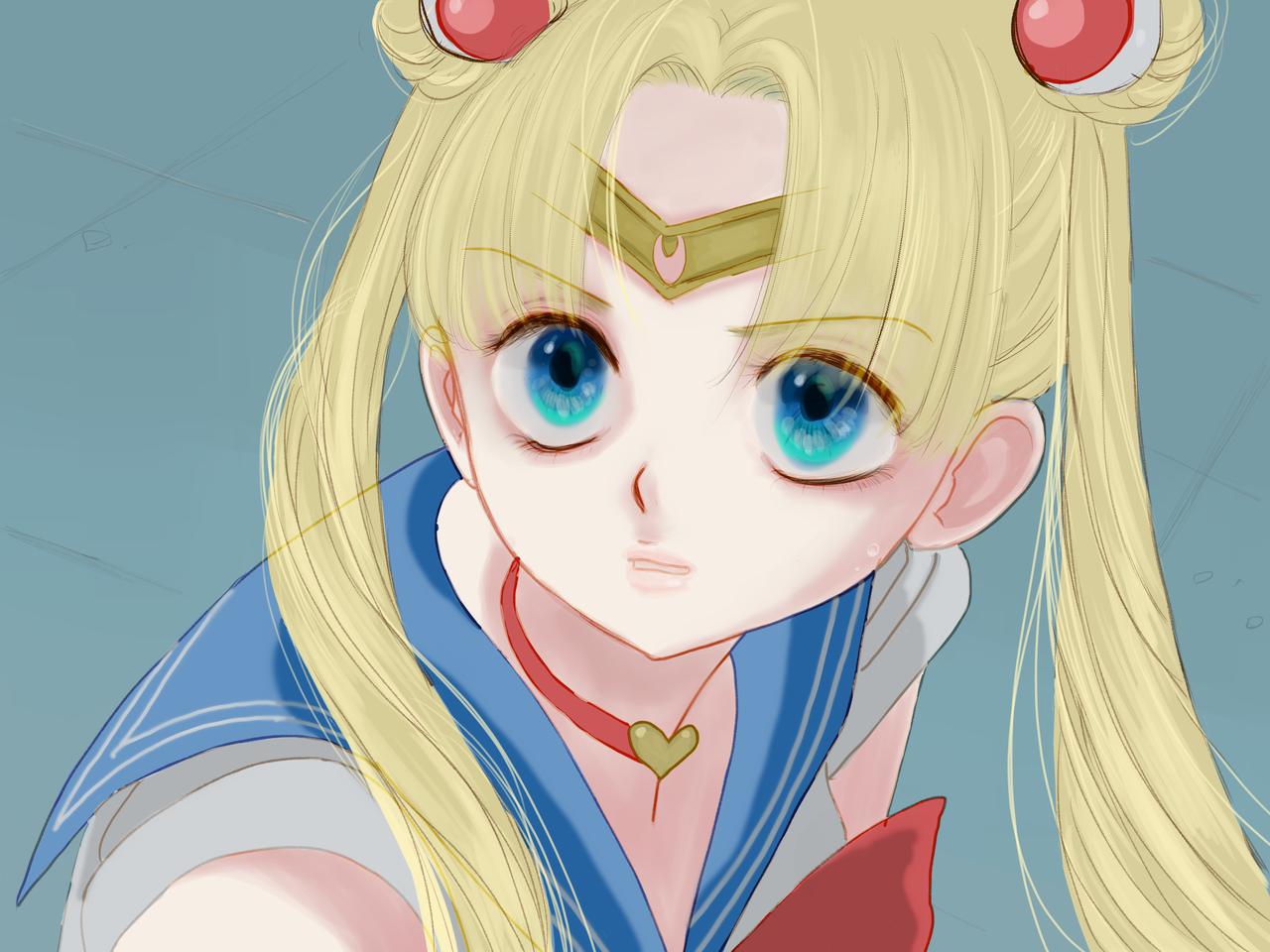 セーラームーンチャレンジ! Illust of FJ sailormoonredraw medibangpaint UsagiTsukino girl