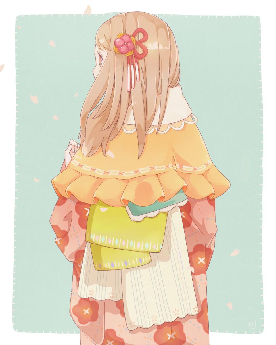 晴れ着 Illust of nekomeshi00 春 kimono flower girl