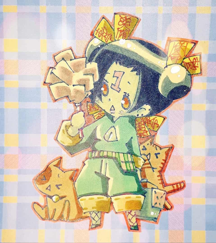 眠いの? Illust of ゆち アナログ cat 清掃 original girl キョンシー