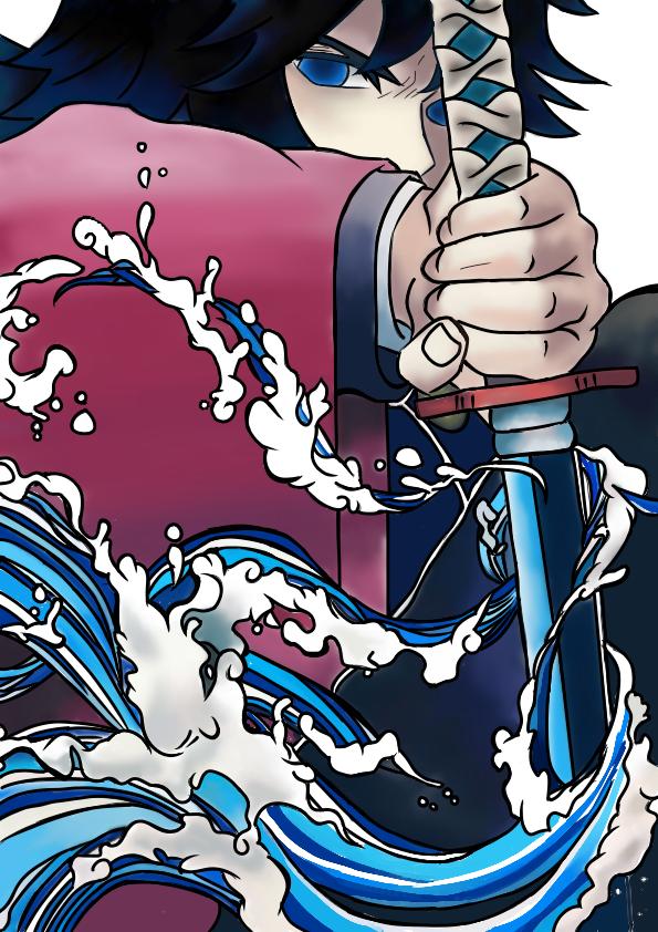 Illust of + medibangpaint KimetsunoYaiba anime TomiokaGiyuu