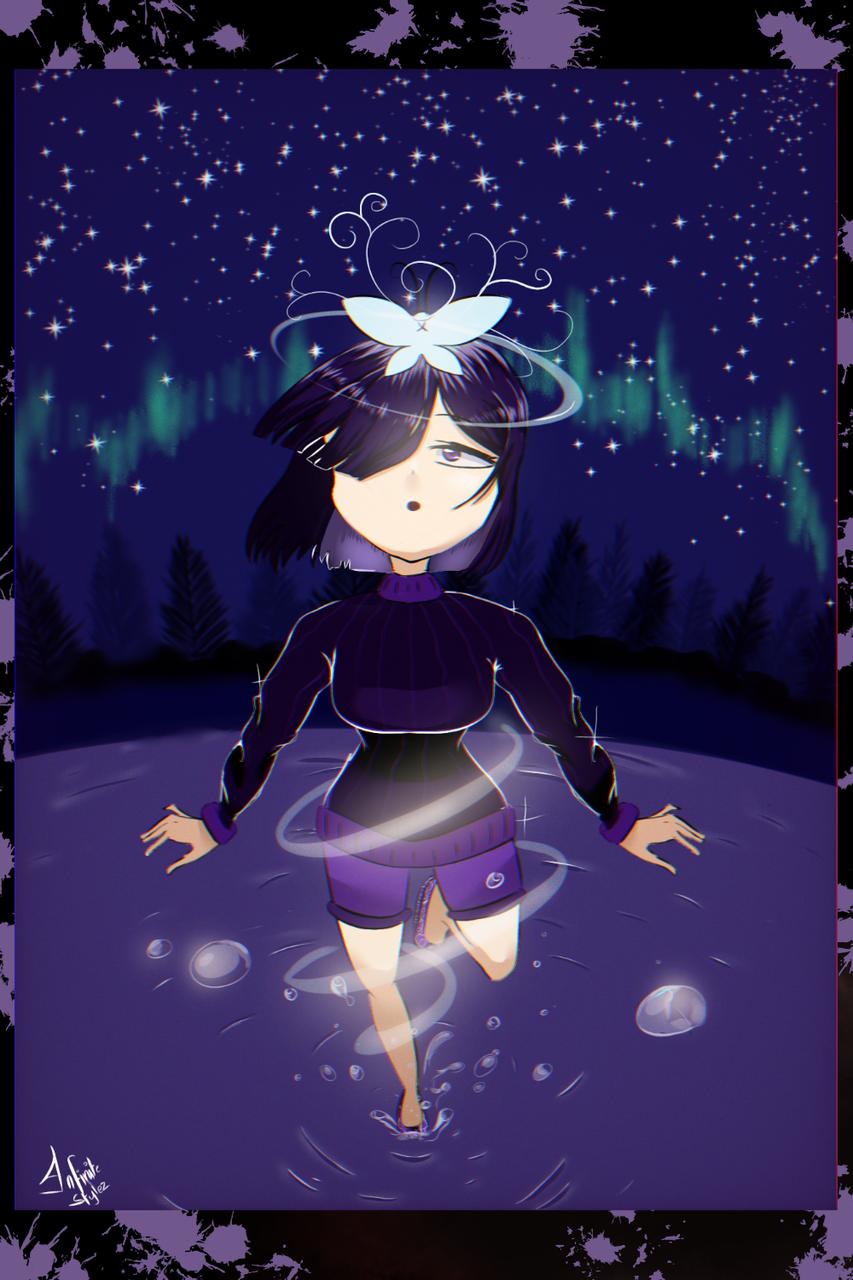 Magical 👉🌌👈 Illust of Infinite stylez medibangpaint original illustration butterflies anime fingerdraw animeart
