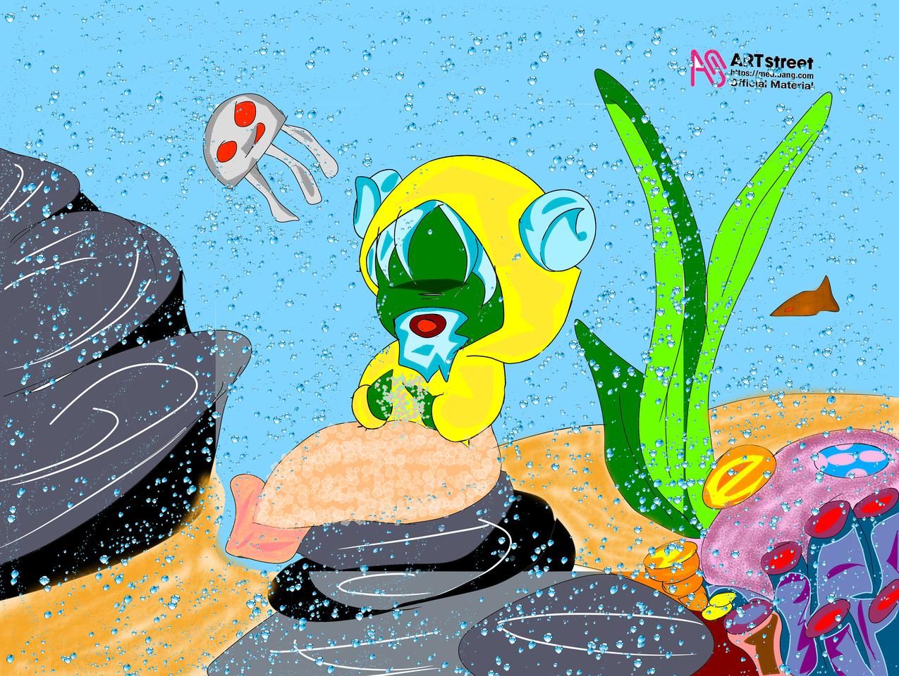 old mermaid..  Illust of astrosiver2018 medibangpaint mermaid Trace&Draw【Official】 illustration animestyle sea Ilustration Old water fish
