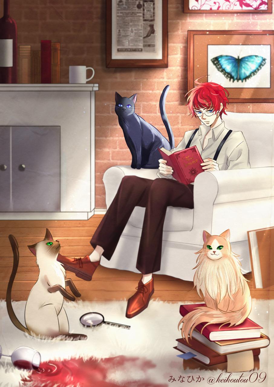 猫と屋敷とミステリー Illust of みなひか DOGvsCAT_CAT boy cat original