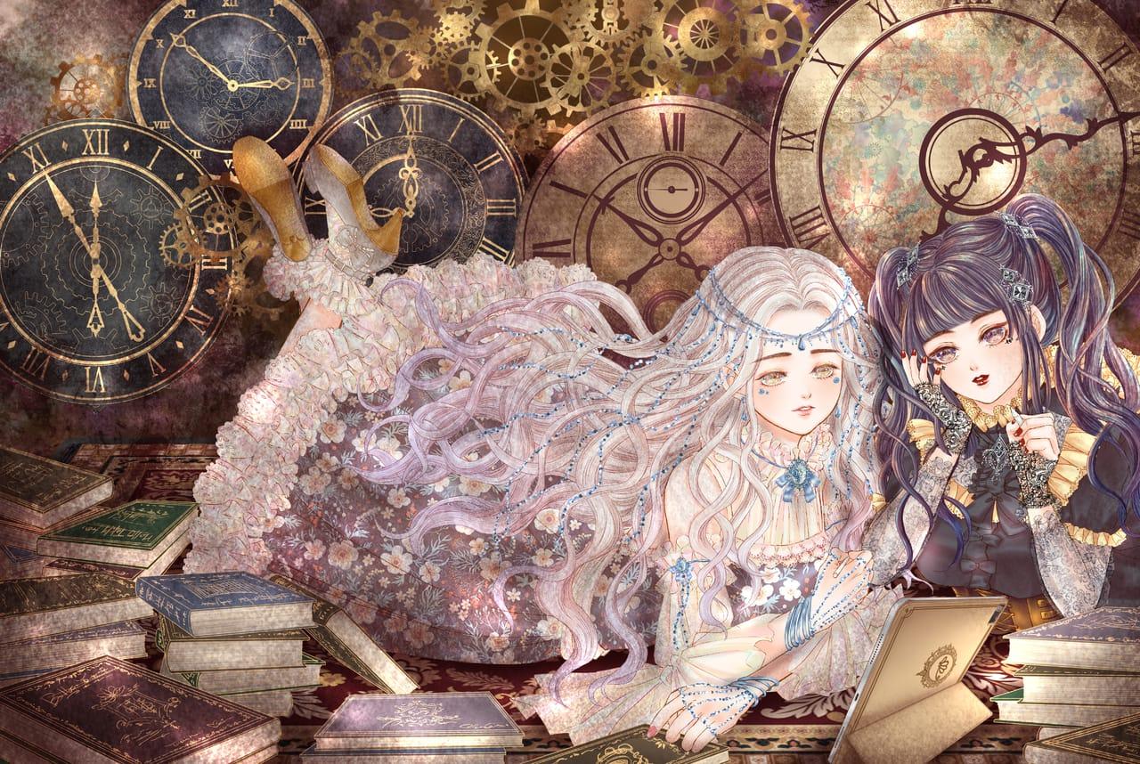 經典時刻 Illust of Miru米如 ART_street_Illustration_Book_Contest lolita お嬢様 歌德蘿莉 復古 original 時鐘 古典