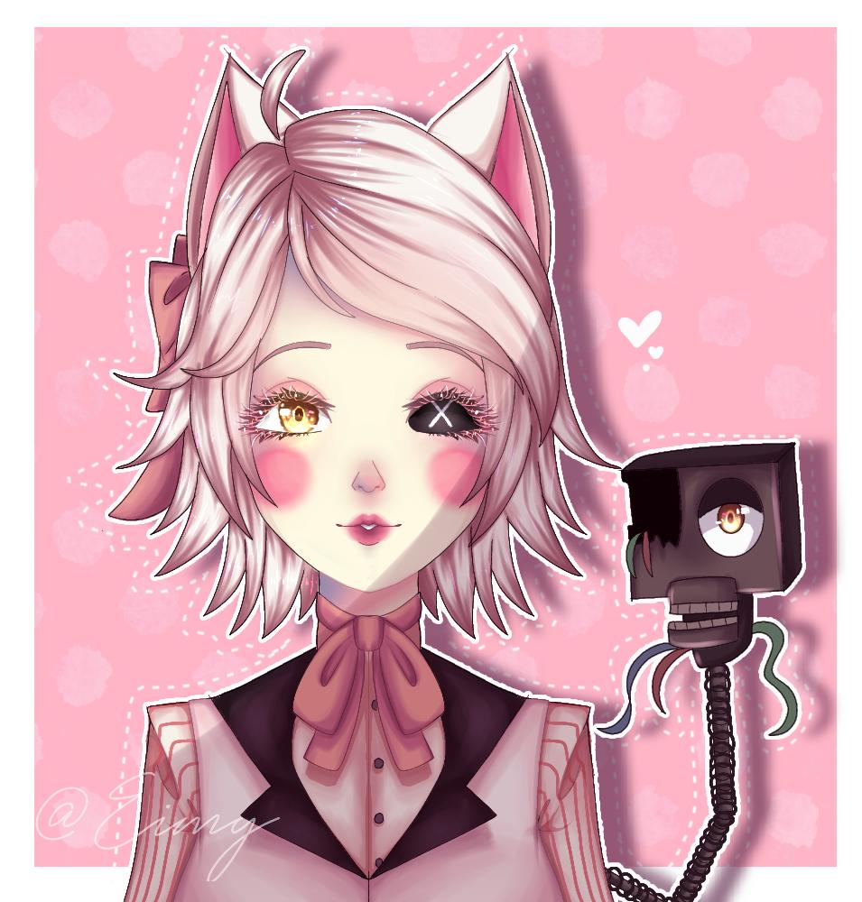 Mangle (FNAF2) fan Art  Illust of Eimy _•Violet wolf•_ medibangpaint