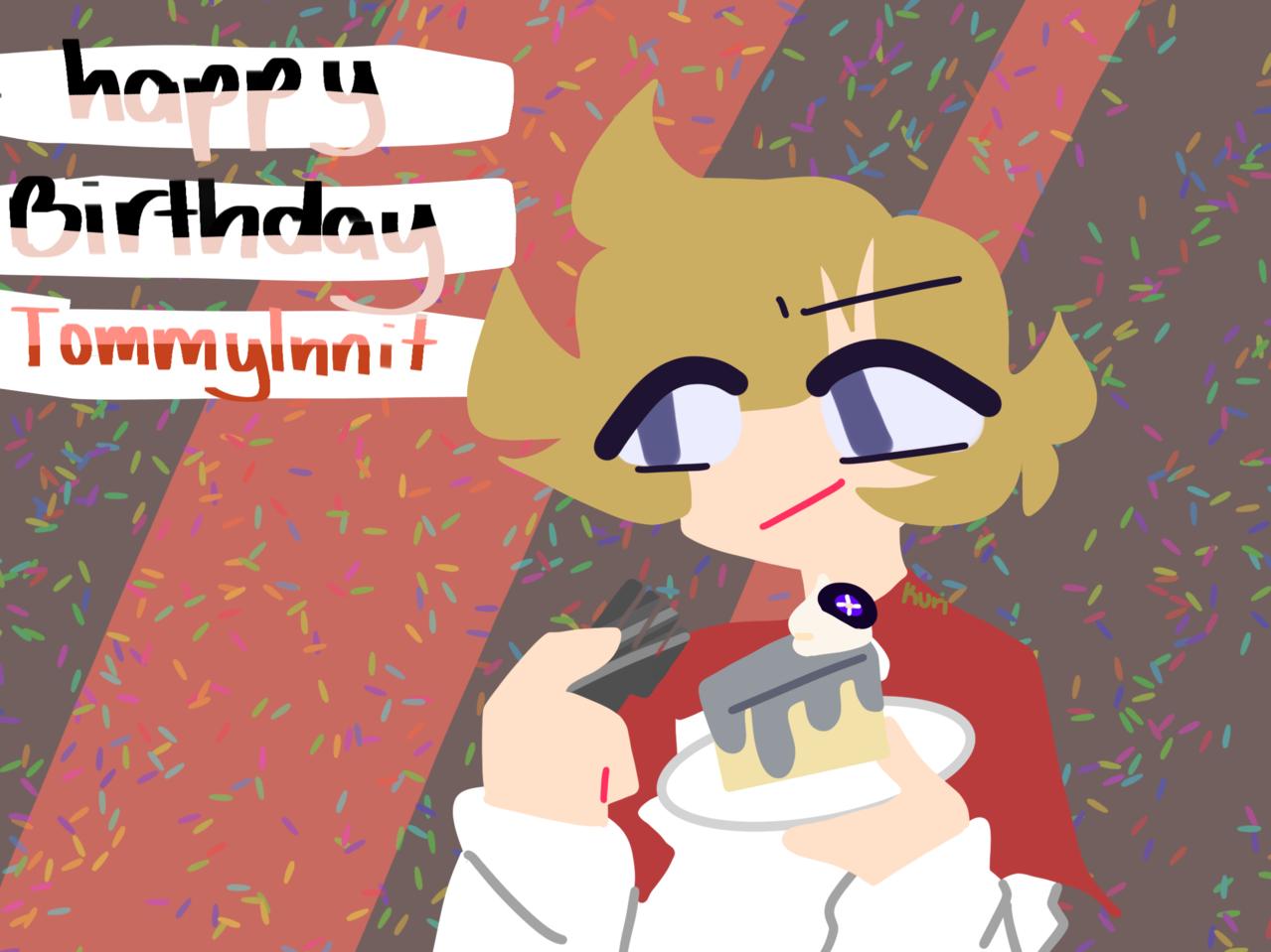 HAPPY BIRTHDAY TOMMYINNIT  Illust of DreamiiKuri | Drèam mode©️ gift drawing lineless