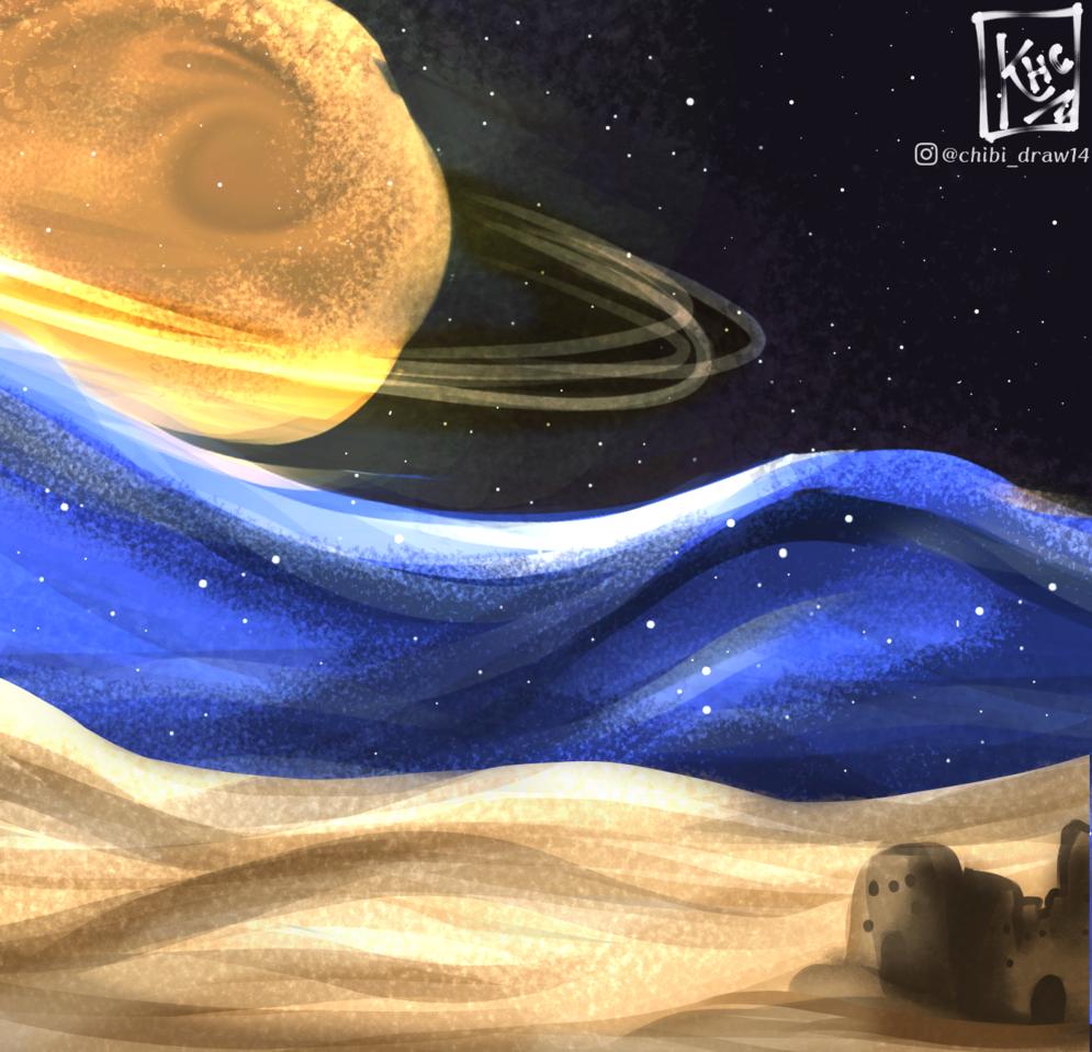 Universo paralelo Illust of Karenhc illustration drawing color medibangpaint art space nature night original Artwork