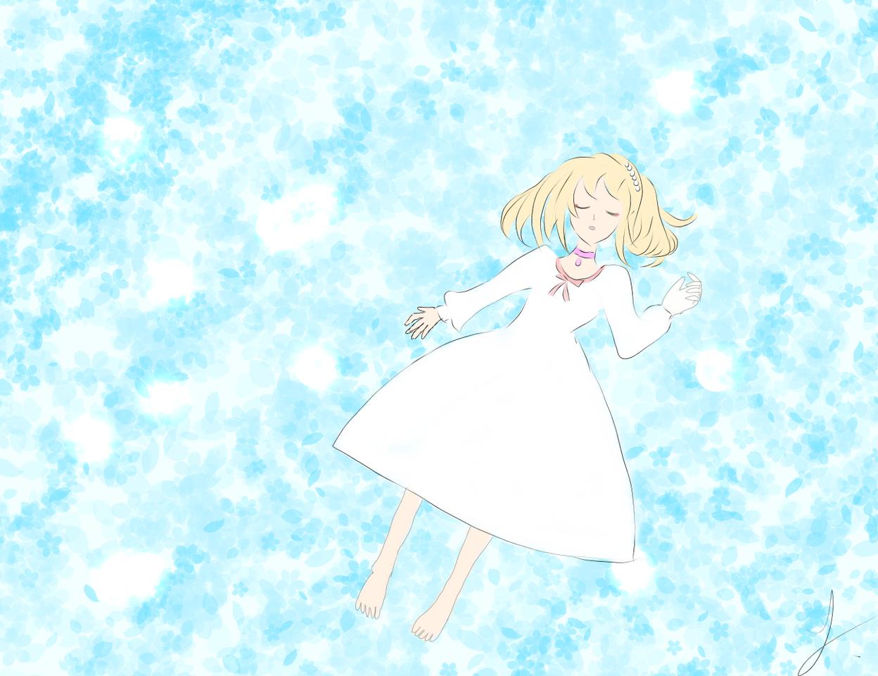 Illust of 竹心 medibangpaint girl blue