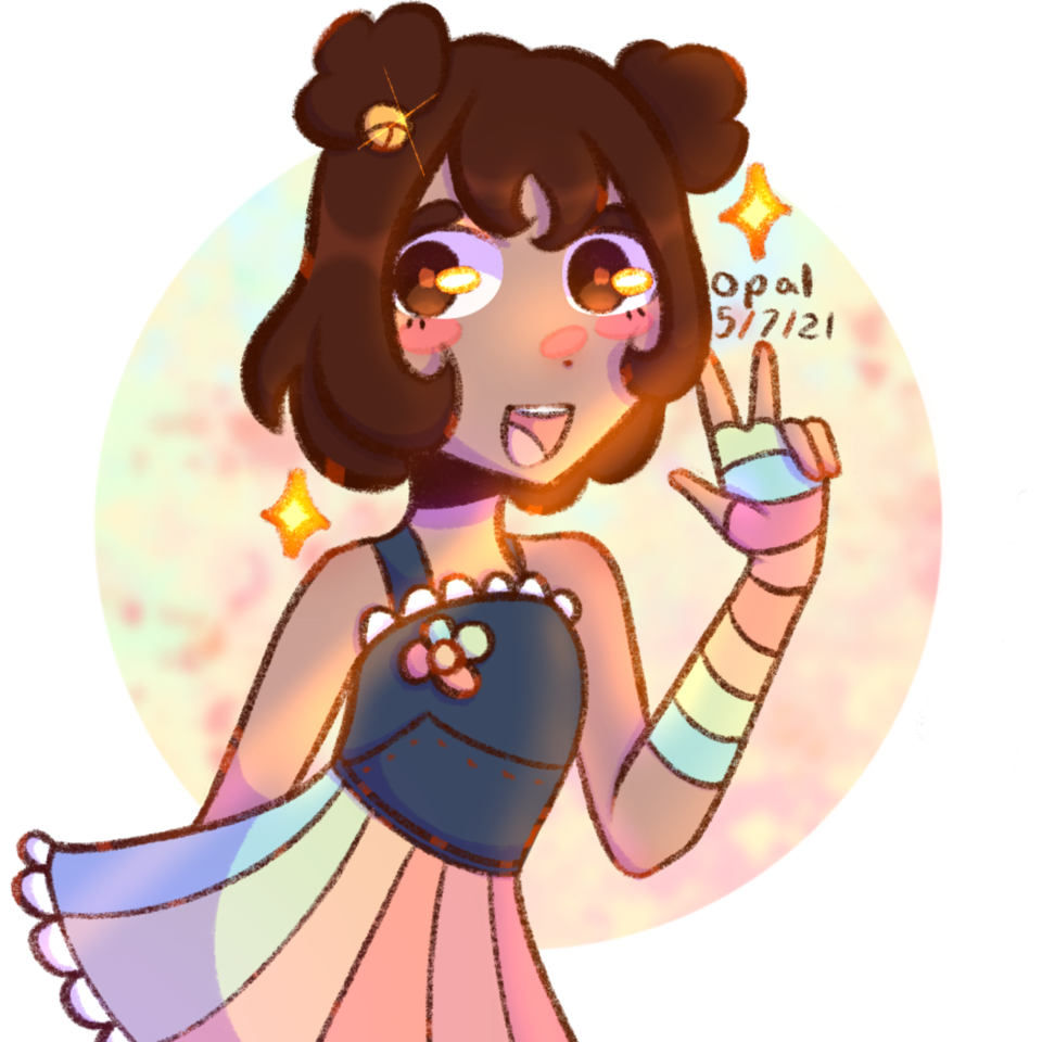 Summer! Illust of Opal   Geoxor Fangirl character girl uwu oc cute summer aesthetic yellow