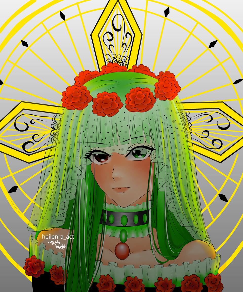 💚💚💚💚 Illust of Heilenra_act oc anime animeart green medibangpaint animegirl
