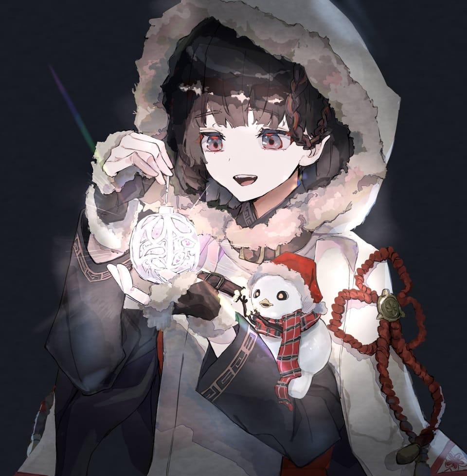 ゆきんこちゃんとちっちゃなクリスマス Illust of さかしょうどん December2020_Contest:Santa Christmas girl oc