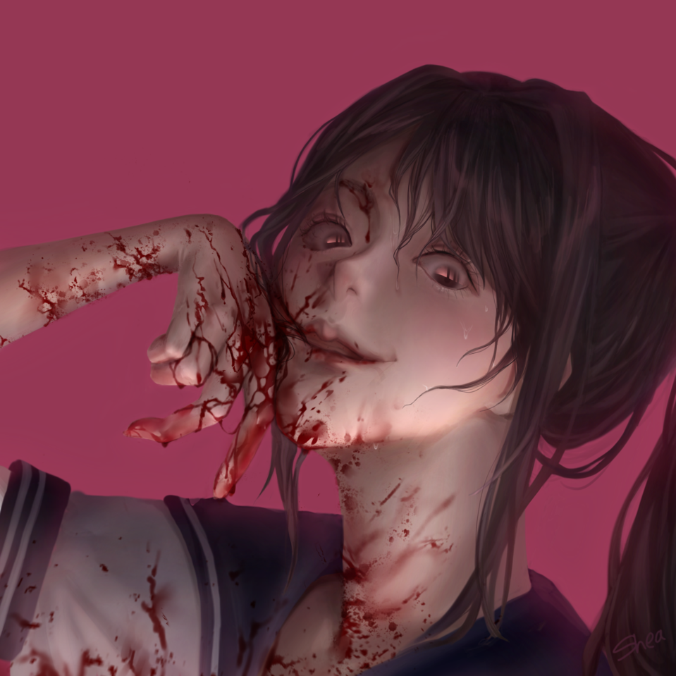 what a mess I've made♡ Illust of SHAEA YandereSimulatorFanArtContest ayanoaishi Yandere Ayano