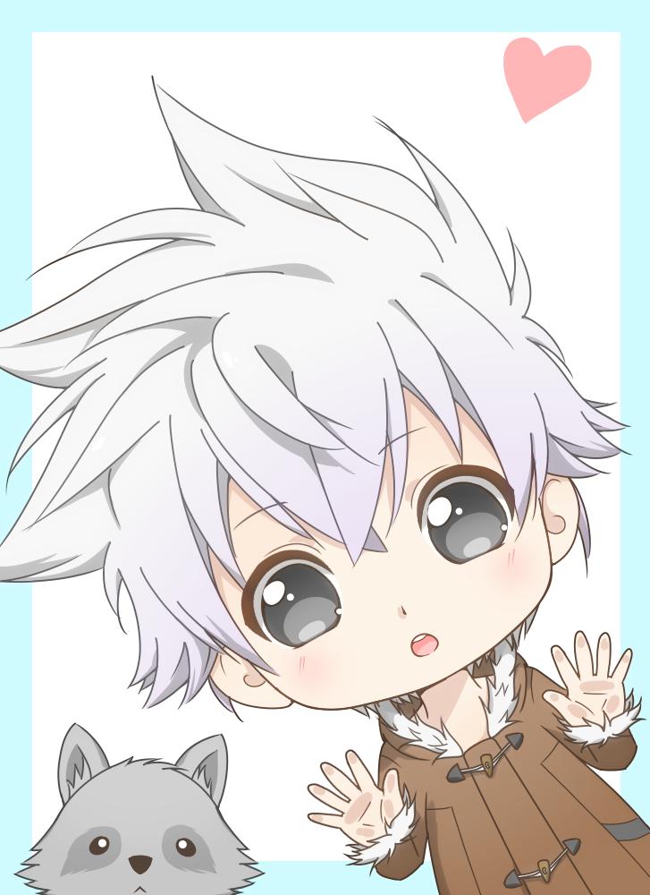 Tory chan <3 Illust of B e e 48...🐝 cute Raccoon original kawaii boy manga chibi whitehair oc digital