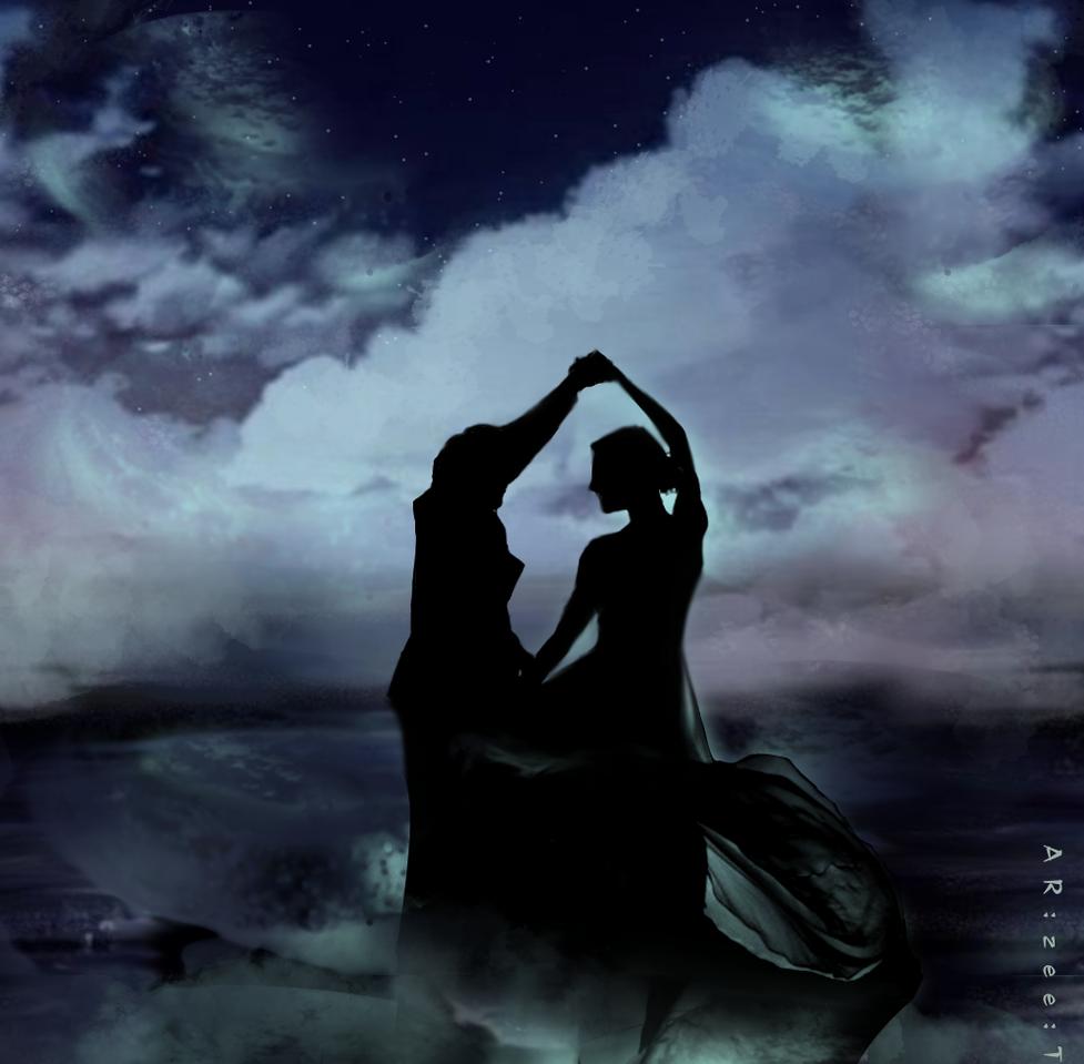Musk Illust of Ar:Zee:T romance art dance night medibangpaint illustration Christmas digital dark blue