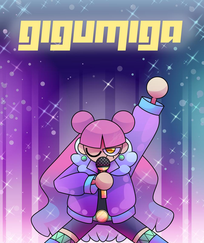 Gigumiga, artista ficticio de un cómic mío (desc)