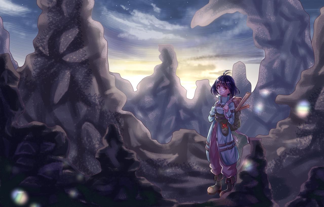 旅人 Illust of もうふ fantasy medibangpaint girl