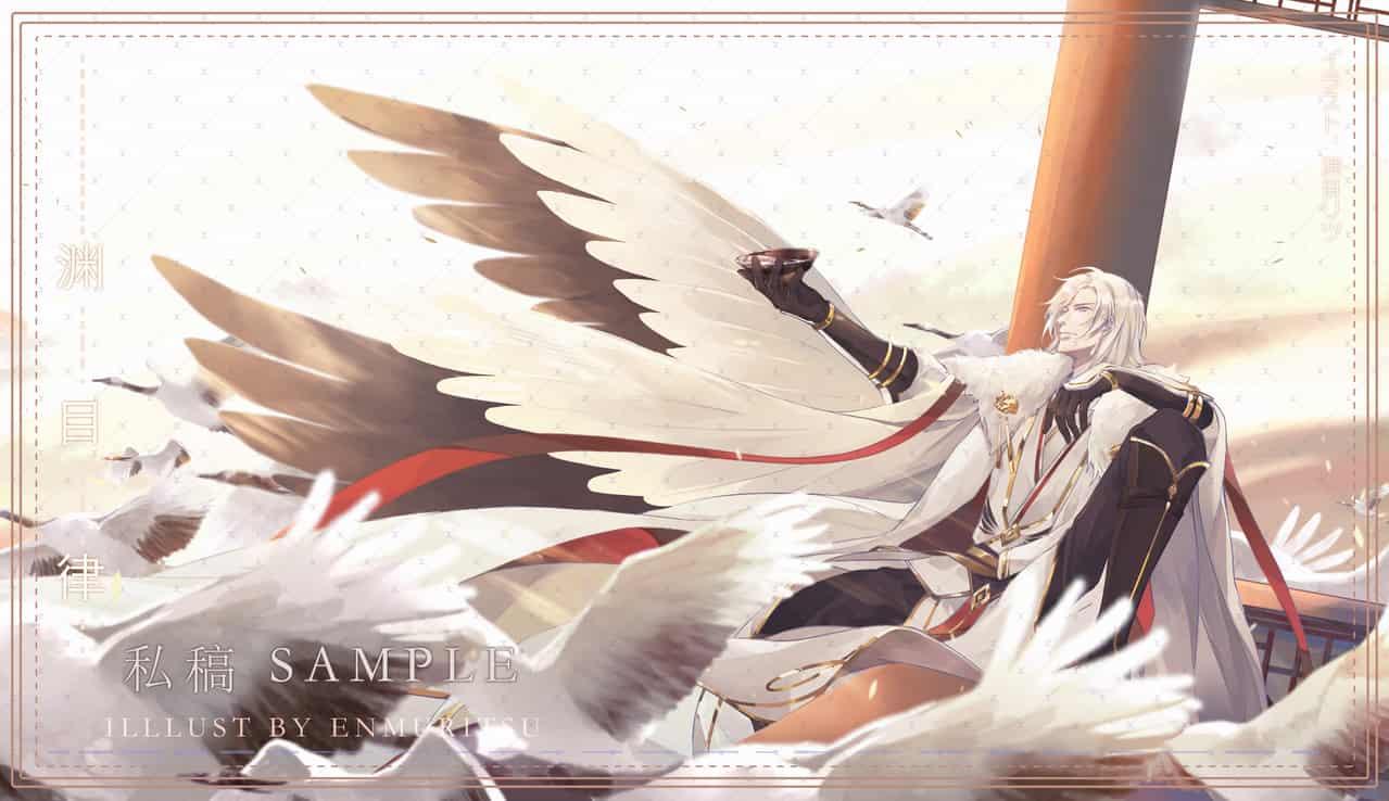 稿-龙渊 Illust of 渊目-ritsu oc illustration 约稿 wings
