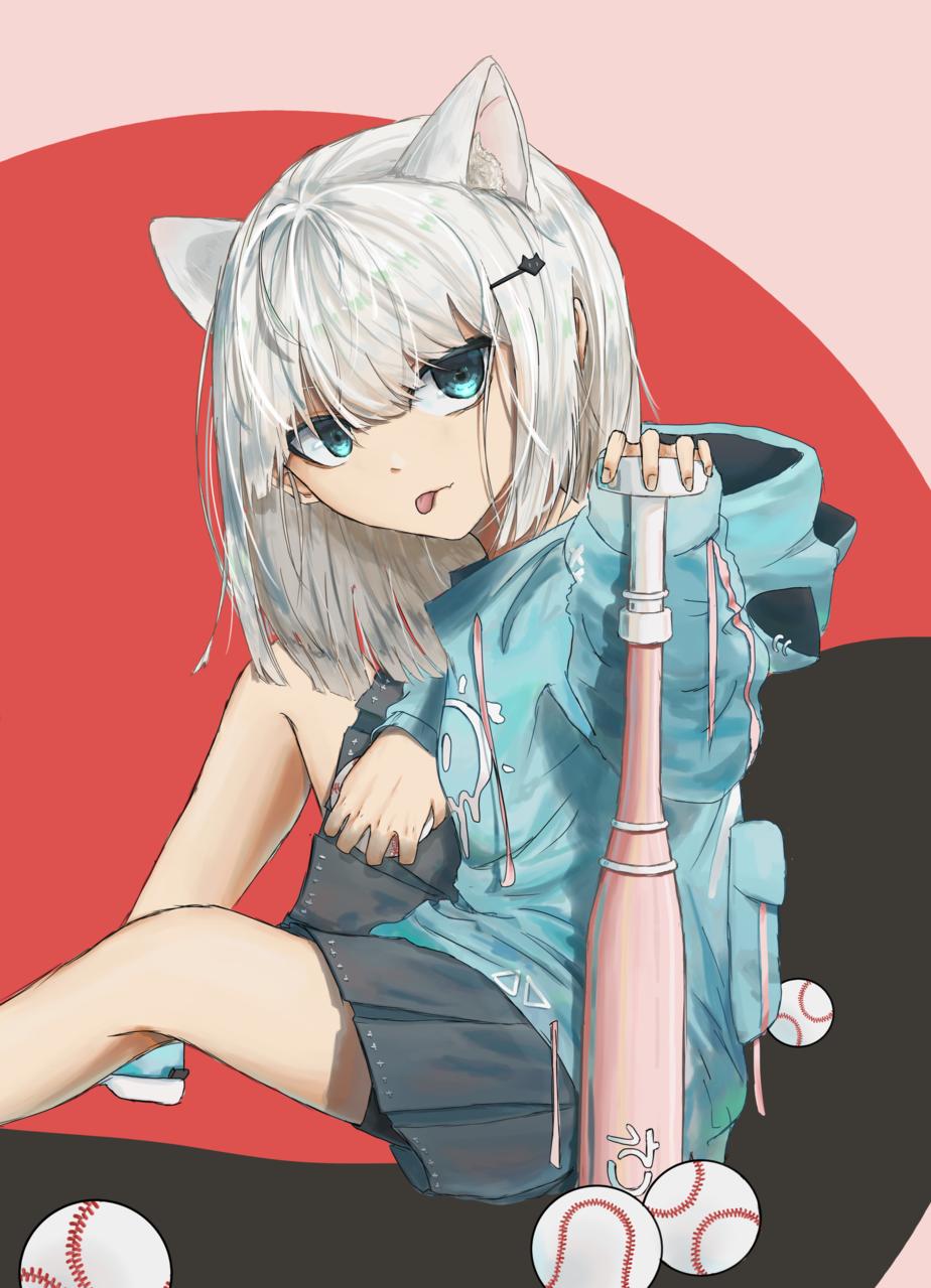 cat Illust of 0r3njii doodle girl animeillustration cute art illustration animegile digital anime