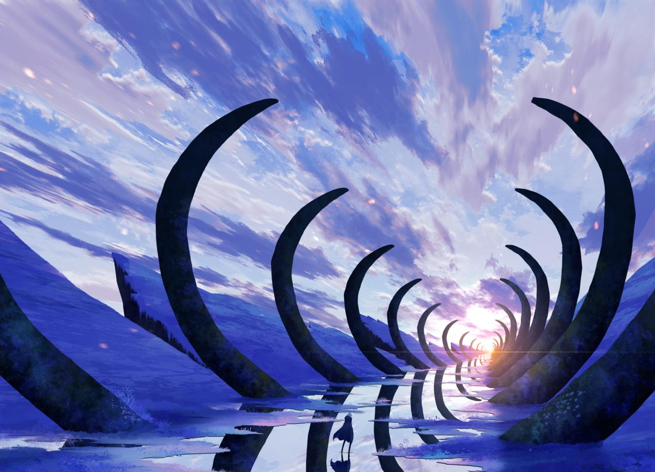 道標 Illust of faPka background scenery