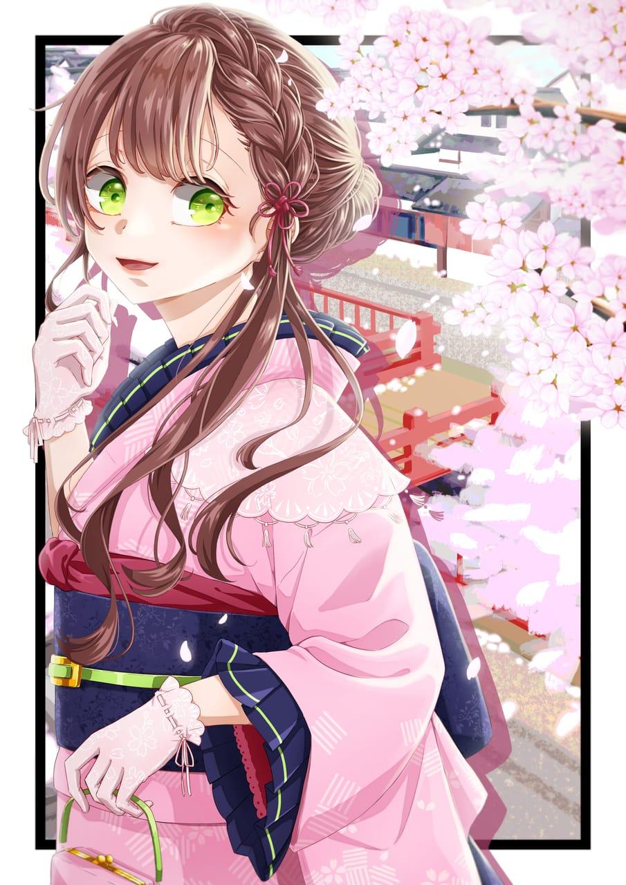 春 Illust of れいはた girl レトロ oc character sakura kimono original 春