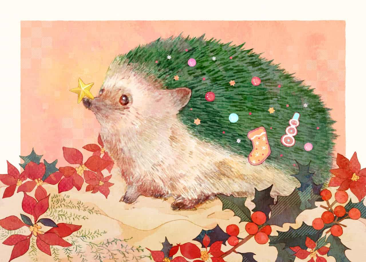 冬のハリネズミ Illust of kita dec.2019Contest ハリネズミ Christmas クリスマスツリー