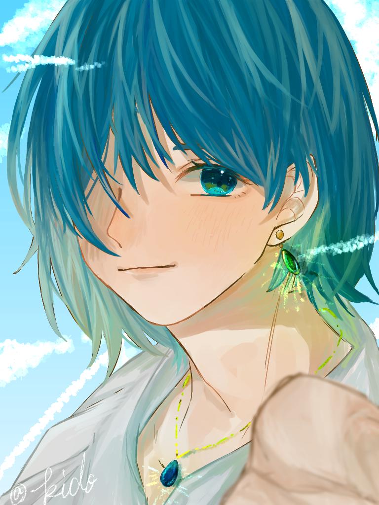ハウル Illust of 喜怒哀楽 medibangpaint illustration 描いてみた ハウル GHIBLI 青色 boy