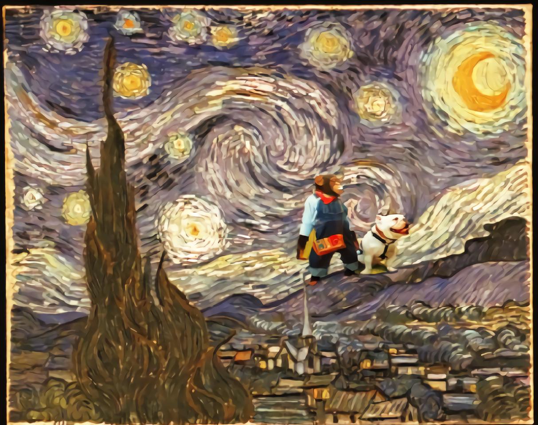 狗狗猩猩大挑戰 Illust of 戴芝芬 MasterpieceFanart cute 鬥牛犬 art 追月 funny 鬥牛犬詹姆斯 anime 狗狗猩猩大冒險 猩猩小龐 猩猩