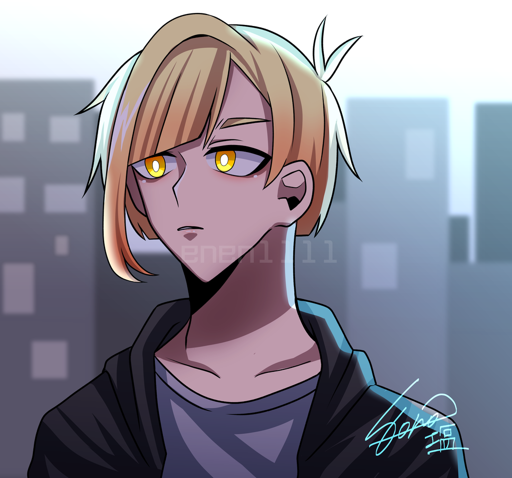 What i really want to do? Illust of 塩 medibangpaint oc アニメ塗り 中性的 blonde self-portrait