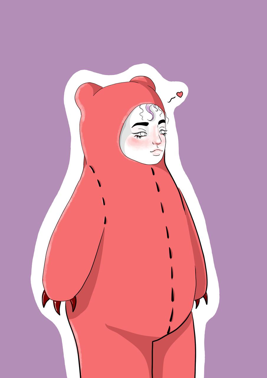 Teddy Illust of LaAtravesadaArt witch illustration painttoolsai digital art girl teddybear kawaii medibangpaint