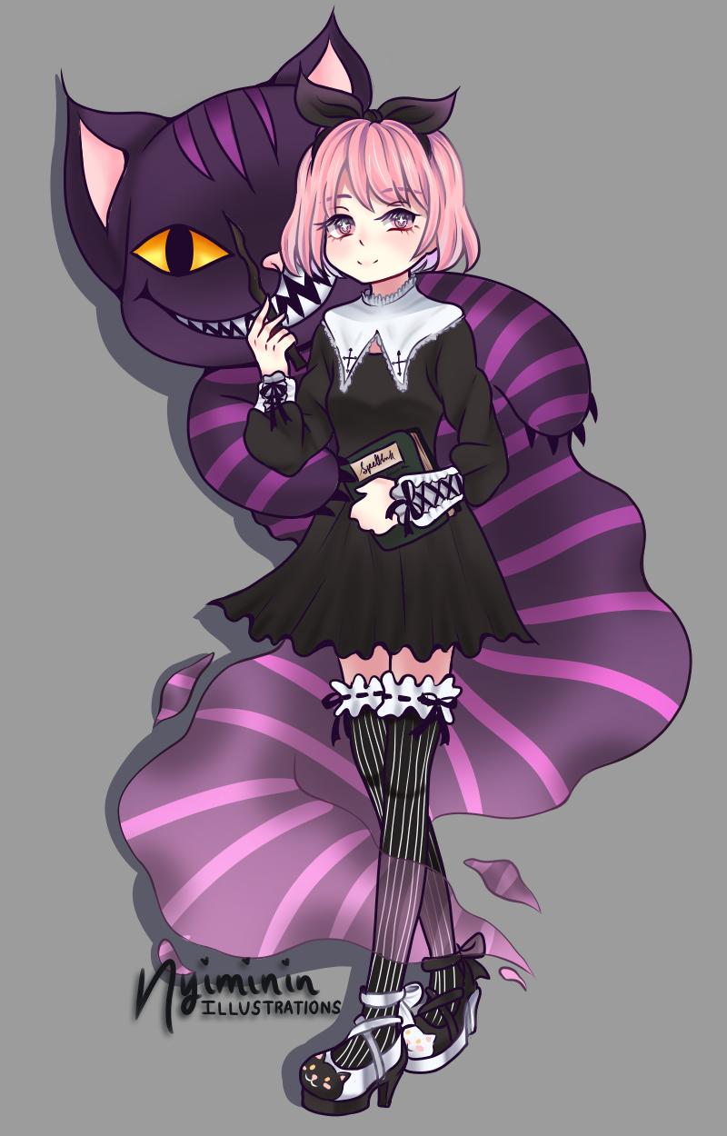 Original Character Illust of Nyiminin gothic illustration iPad_raffle girl kawaii original art drawing oc character