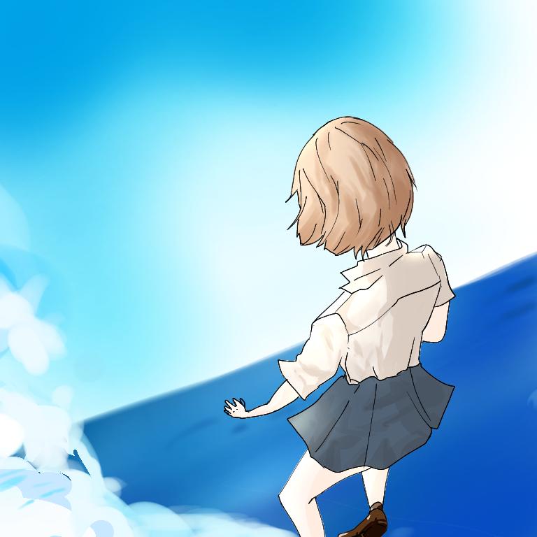 그냥 그런 풍경 Illust of 롤롤(반동결) Post_Multiple_Images_Contest illustration girl iPad_raffle Medi sky MyArt