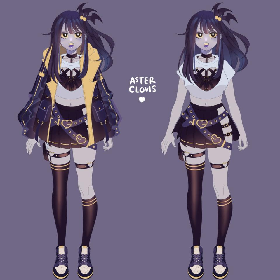 vtuber design & rkgk Illust of AsterKun original sketch animeboy animegirl oc anime virtual_YouTuber originalcharacters vampire