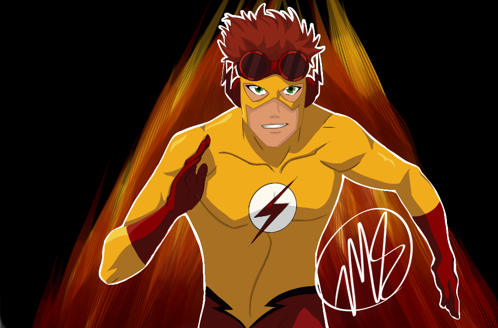 KidFlash FanArt (Young Justice) Illust of fallen.dreamer Kidflash fanart youngjustice superhero WallyWest