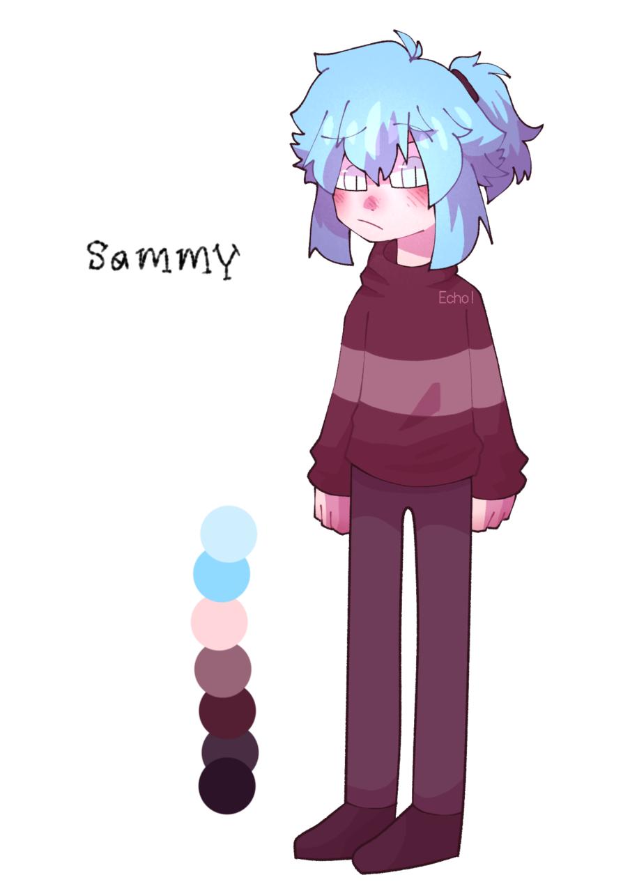 meet my new oc Sammy  Illust of Plasters medibangpaint Echo! oc