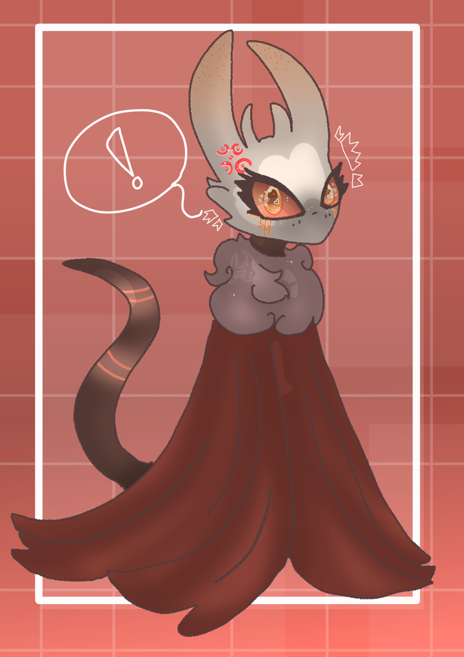 No talk, she angy... Illust of Squidkid64 medibangpaint oc cute angry Hollow_Knight