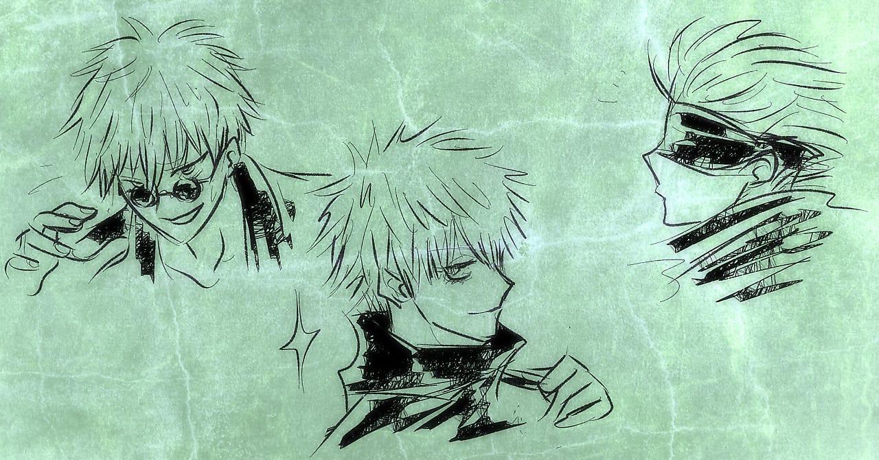 ――五条悟 Illust of 逆髪忍 JujutsuKaisen FireAlpaca SatoruGojō fanfic GIMP2