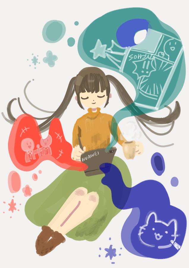 好きな時間に好きなように Illust of momo HUAWEIイラスト&マンガコンテスト HUAWEIイラスト&マンガコンテスト:イラスト部門