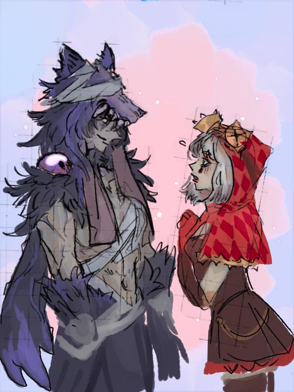 Riding Hood and Wolf Illust of yuubey medibangpaint Mechanic IdentityV Mercenary
