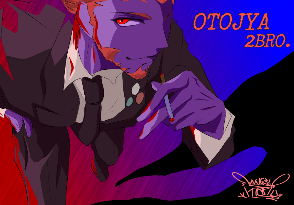 2BRO. 弟者さん♪(OTOJYA♪) Illust of Manu digital カラー 弟者 suit color illustration 兄者弟者 2BRO. handsome