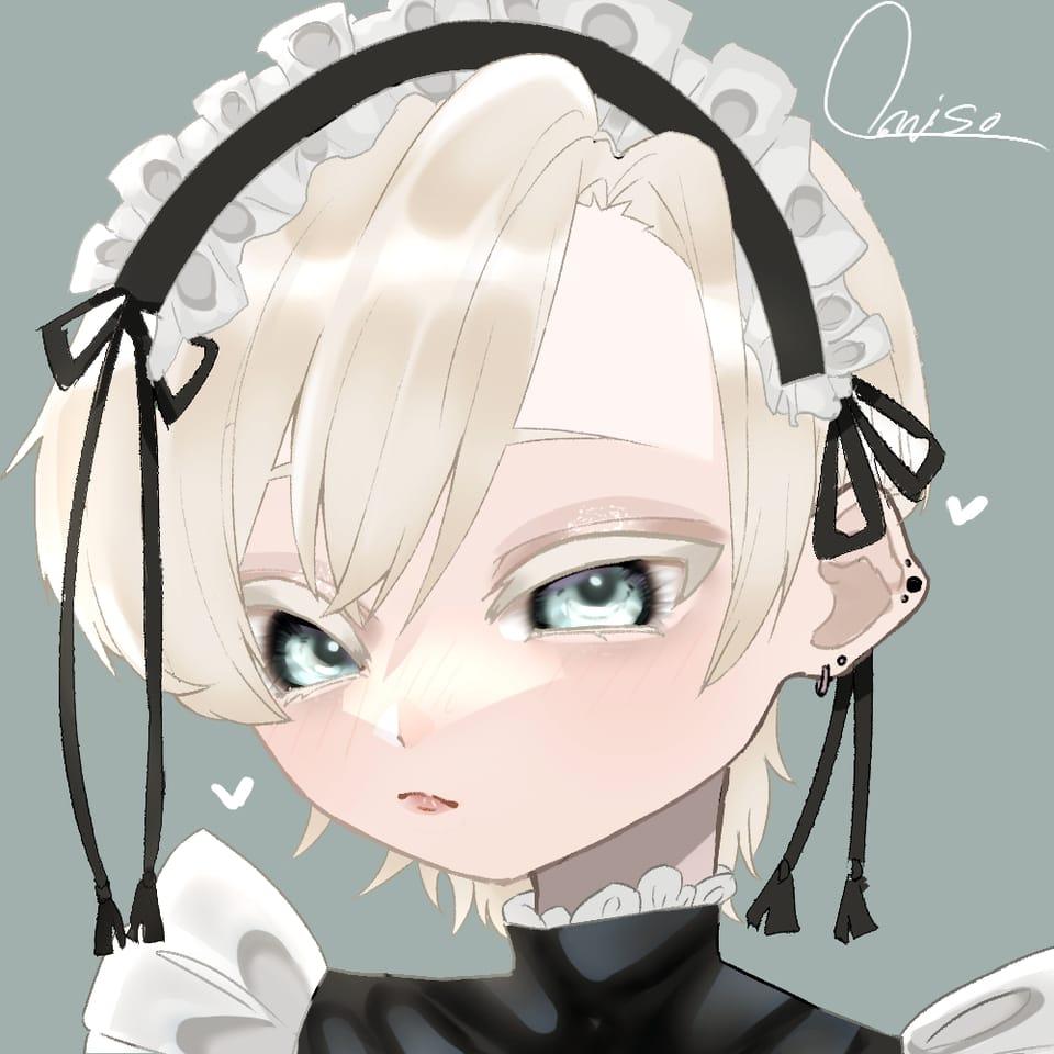 メイド男子 Illust of おみそ#田舎同盟 青目 maid おみそのお絵かき広場 boy illustration CLIPSTUDIOPAINT oc blonde