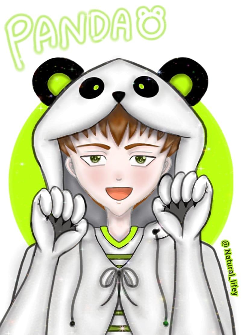 🐼💚🖤 Silly panda