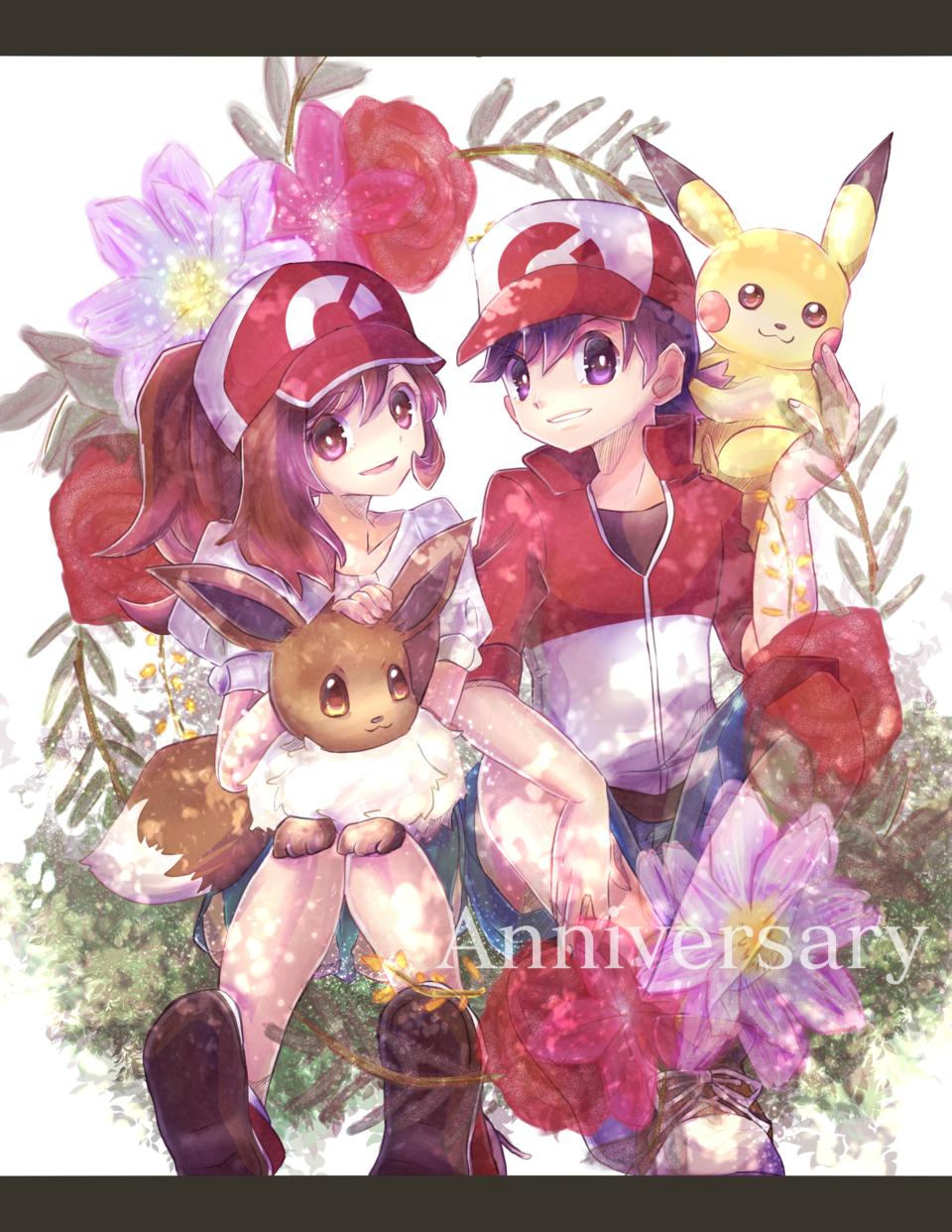 【Pokemon】LPLE 1st Anniv Illust of NGO medibangpaint Pikachu Eevee pokemon