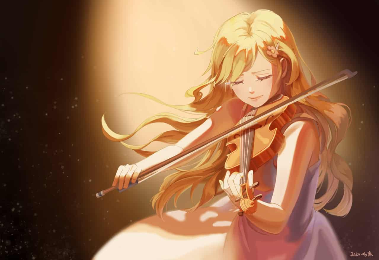 宮園 かをり Illust of 米米 violin music kaori YourLieinApril 宮園かをり