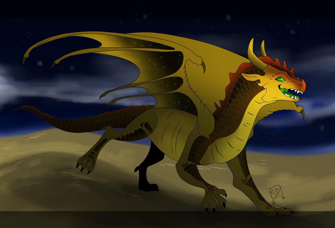 ShadedSun [WOF OC] Illust of Squeaky Plastic medibangpaint oc dragon WOF Nightwing Sandwing