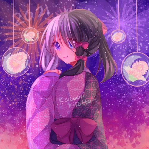 Happy new year 2021~! Illust of KawaiiKiratto105 oc illustration originalwork artist art originaloc Artwork