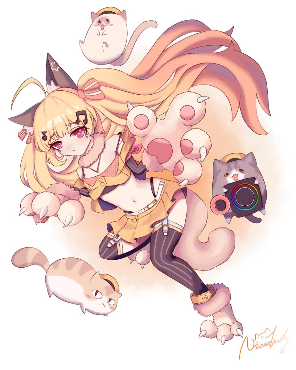 埃尔德里奇 Illust of Nicoselandy medibangpaint girl cat twin_ponytails