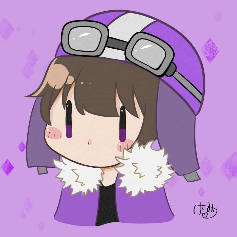 しょっぴくん Illust of けいみり purple chibi ○○の主役は我々だ! medibangpaint ショッピ君