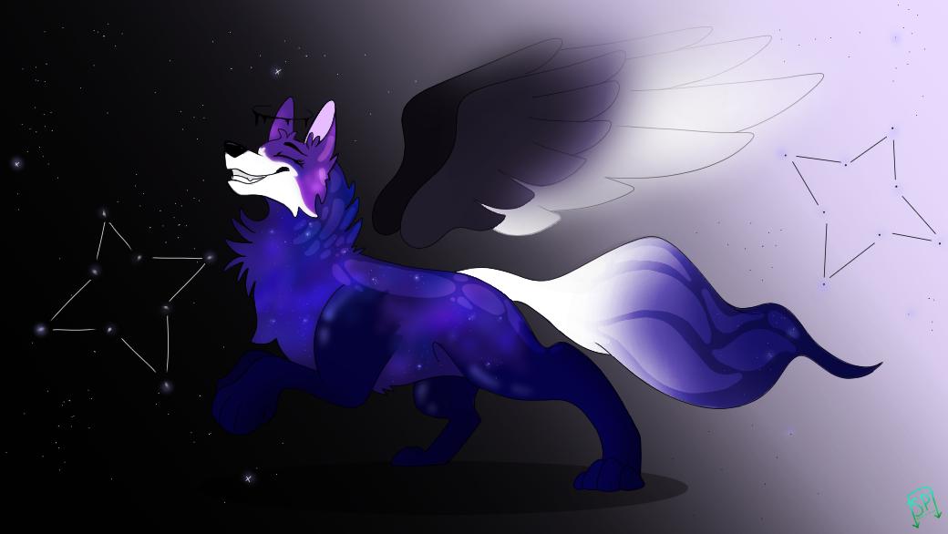 Avacado's Entry  Illust of Squeaky Plastic medibangpaint oc wolf galaxy star